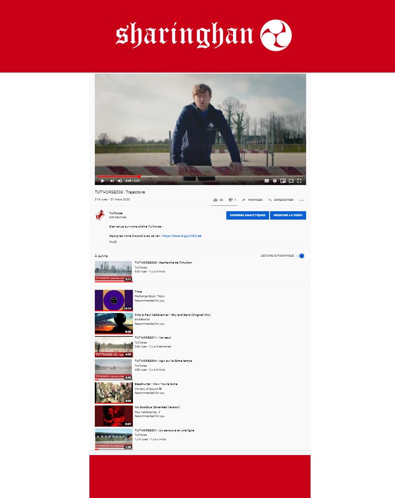 Aperçu de la chaîne de production Youtube Tut'horse