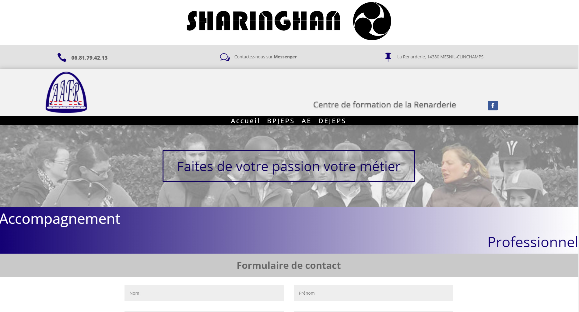 Site web centre de formation calvados