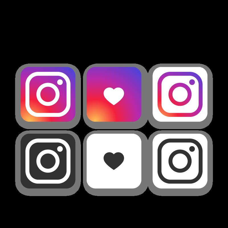 Logos de couleurs différentes du réseau social Instagram